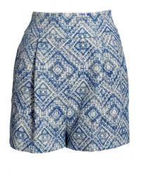 Matthew Williamson Ikat Linen Shorts - Lyst