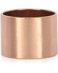 River Island - Rose Gold Circle Ring - Lyst