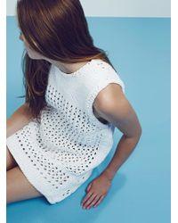 Yakshi Malhotra - White Oversized Chunky Lace Tunic - Lyst