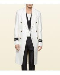 Gucci Wool Silk Evening Coat - Lyst
