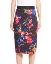 Milly | Floral-print Midi Skirt | Lyst
