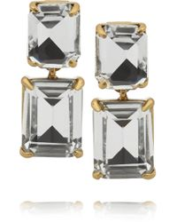 J.Crew Gold-tone Crystal Earrings - Lyst