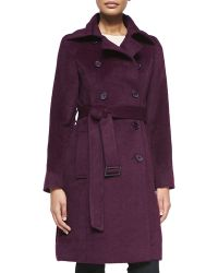 Sofia Cashmere Alpaca Belted Double-Breasted Coat - Lyst