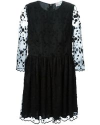 RED Valentino Sheer Lace Panelled Dress - Lyst