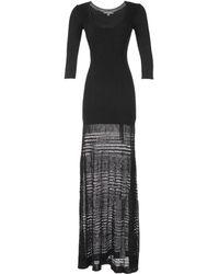 Zac Posen Three-quarter Sleeve Pointelle Maxi Dress - Lyst
