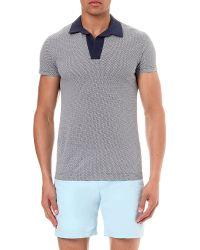 Orlebar Brown Felix Geometric-Print Cotton Polo Shirt - For Men - Lyst