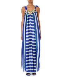 Easton Pearson Take Away - Vana Striped Silk Maxi Dress - Lyst
