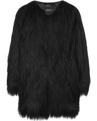 Unreal Fur Black Wanderlust Fur Coat - Lyst