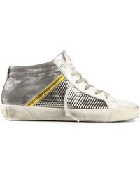 Leather Crown Louve Mid-top Sneakers - Lyst