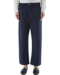 Marvielab - Women's High-waisted Straight Leg Trousers In Navy - Lyst