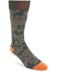 Mr Gray - Textile Hibiscus Camo Socks - Lyst