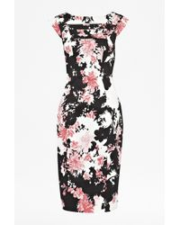 French Connection Bell Garden Cap Sleeve Dress - Lyst