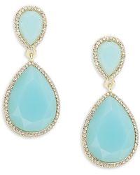 ABS By Allen Schwartz - Turquoise Teardrop Earrings - Lyst