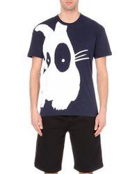 McQ by Alexander McQueen Bunny-Print Cotton T-Shirt - For Men blue - Lyst
