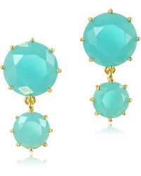 Les Nereides - La Diamantine Turquoise Drop Earrings - Lyst