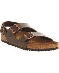 Birkenstock Milano Leather Sandals - For Men - Lyst