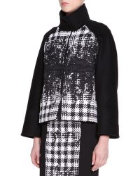 Piazza Sempione Stand-Collar Abstract Houndstooth Jacket - Lyst