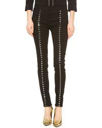 Versace Hook Eye Seamed Pants Black - Lyst