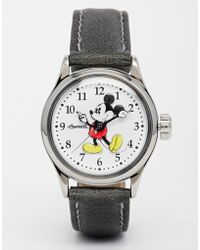 Disney - Black Classic Mickey Mouse Watch - Lyst