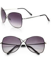 Tom Ford Colette Rimless Aviator Sunglasses - Lyst