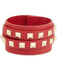 Valentino Double Wrap Stud Bracelet - Lyst