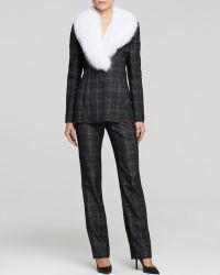 Misha Nonoo Jacket  Detachable Fox Fur Trim - Lyst