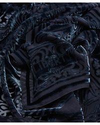 Liberty - Grey Ianthe Devore Scarf - Lyst