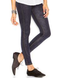Joe's Jeans Faux-leather Mixed-media Leggings - Lyst