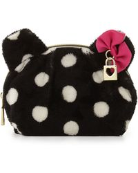 Betsey Johnson - Fun Bear Polka-dot Cosmetic Bag - Lyst