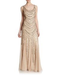 Adrianna Papell Embellished Curve Gown - Lyst