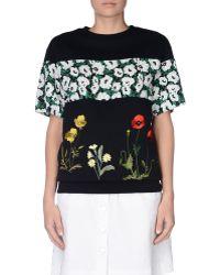Stella McCartney | Embroidered Short Sleeved Sweatshirt | Lyst