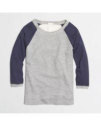 J.Crew Factory Woven-sleeve Sweatshirt - Lyst