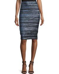 Nicole Miller Artelier - Striped Jacquard Skirt - Lyst