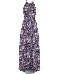 Tibi Printed Crepe Maxi Dress - Lyst