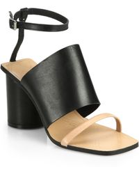 Maison Margiela Double-Band Leather Ankle-Strap Sandals - Lyst