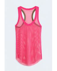 Zadig & Voltaire Weep Fishnet Tank Top pink - Lyst