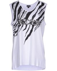 Just Cavalli Vest white - Lyst