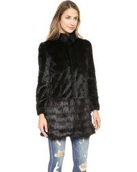 Unreal Fur A-Capella Coat - Black - Lyst
