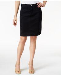 Lee Platinum - Kellie Denim White Wash Pencil Skirt - Lyst