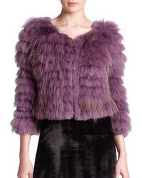 Alice + Olivia Fawn Fur Jacket - Lyst