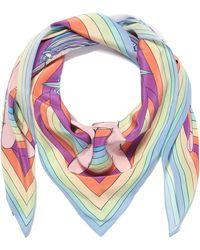 Silken Favours - Rainbow Cosmic Groovy Printed Silk Scarf - Lyst