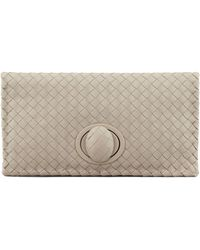 Bottega Veneta Full-flap Turn-lock Clutch Bag - Lyst