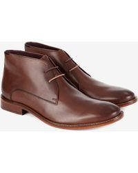 Ted Baker - Classic Leather Derby Boots - Lyst