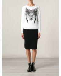 Marcelo Burlon County Of Milan Lynx Print Sweatshirt - Lyst
