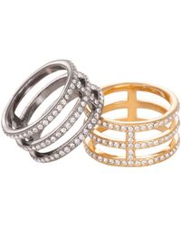 Trina Turk - Pave Triple Band Ring - Lyst