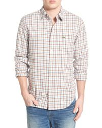 Lacoste | Regular Fit Long Sleeve Plaid Twill Woven Shirt | Lyst