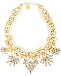 BCBGMAXAZRIA - Rope And Stone Statement Necklace - Lyst