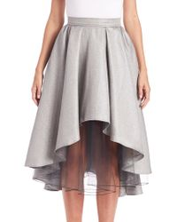 ABS By Allen Schwartz - Layered Metallic Hi-lo Skirt - Lyst