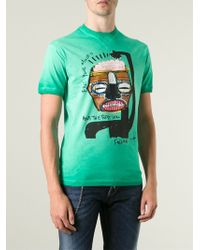 DSquared2 Free Your Mind Print T-shirt - Lyst