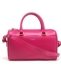Saint Laurent Mini Leather Duffel Bag - Lyst